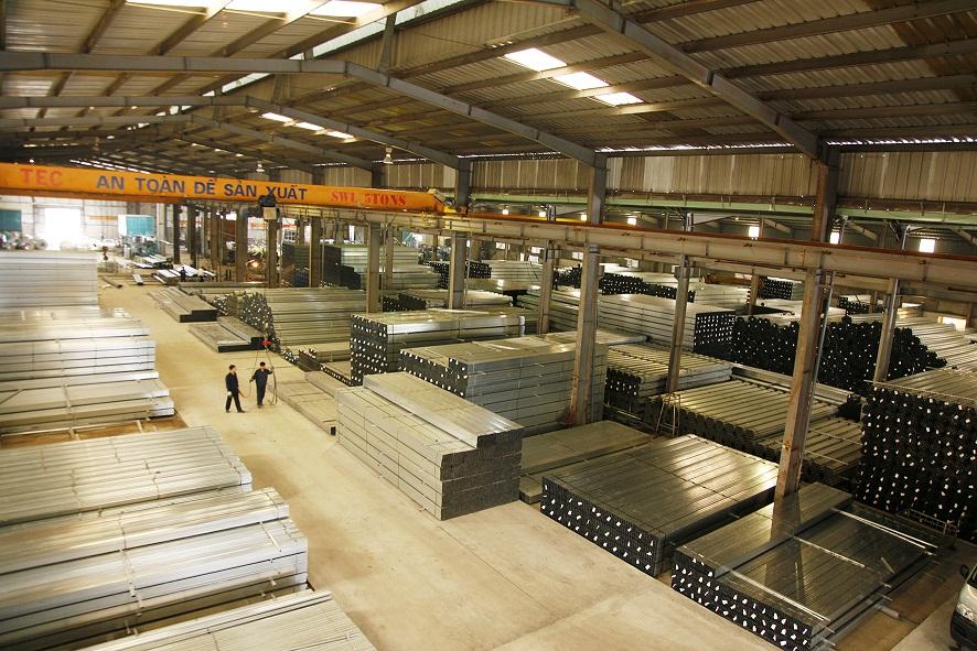 cơ sở sản xuất thép hộp mạ kẽm