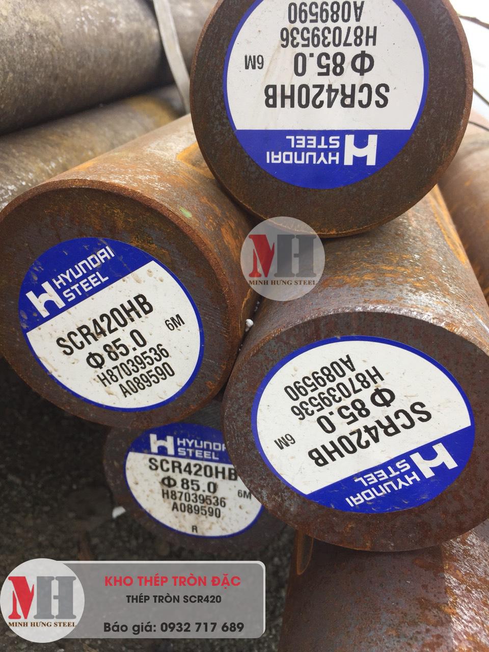 thép tròn đặc scr420 giá tốt tại hcm